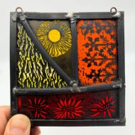Harriet Love Stained Glass Square Panel V